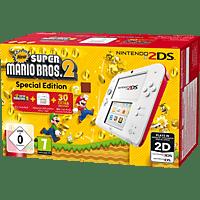 NINTENDO 2DS Weiß/Rot + New Super Mario Bros. 2 (Special Edition)