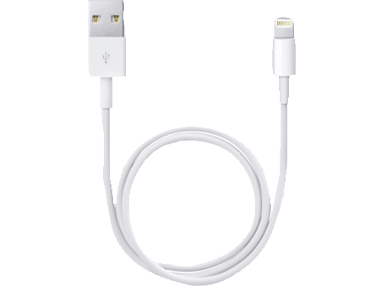 APPLE ME291ZM/A, Lightning Connector auf USB Kabel, Weiß