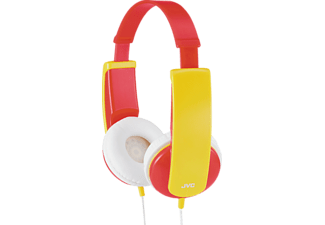 JVC HA-KD5 - Kinderkopfhörer  (On-ear, Rot/Gelb)