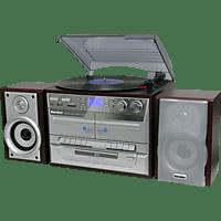 KARCHER Stereoanlage KA 320 Kompaktanlage (Holzoptik/Silber)