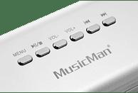 TECHNAXX MusicMan MA Display Soundstation Soundstation, Silber