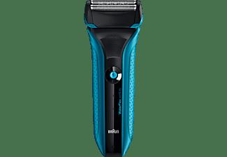Afeitadora - Braun WATERFLEX BLUE Recargable, Cabezal Pivotante, Completamente lavable