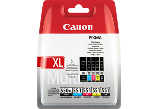 CANON Tintenpatronen Multi-Pack PGI-550XL/CLI-551 CMYB (6509B013)