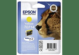 Epson T0714 - Amarillo - original - blíster con alarmas de RF/acústica - cartucho de tinta