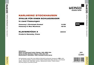 Christoph (Caskel, Max Neuhaus, Frederic Rzewsky - Zyklus für einen Schlagzeuger & Klavierstück X  - (CD)