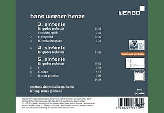 Janowski, Rundfunk-sinfonieorchester Berl - Sinfonien 3-5  - (CD)