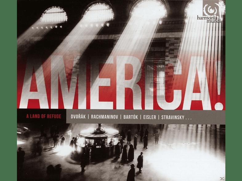 Jerusalem Quartet, Rochester Philh. Orchester, Frederic Chiu - America! Vol.1-A Land Of Refuge [CD]