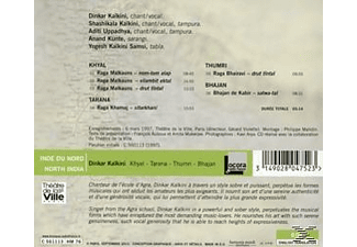 Kaikini : Dinkar (voc), Shashikala (voc, tampura), - North India: Khyal-Tarana-Thumri-  - (CD)