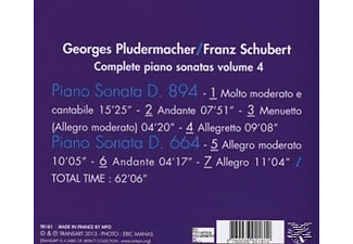 Georges Pludermacher (pno) - Klaviersonaten D.664 & 894 Vol.4  - (CD)