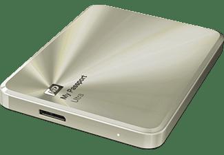 Disco duro de 1Tb - Western Digital My Passport Ultra 1TB, externo, 2,5, USB 3.0, color dorado