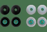 HAMA Silikon-Ersatzohrpolster, Größe L, 8 Stück Ohrpolster  Schwarz/Blau, Transparent/Blau