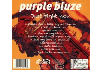 Purple Bluze - Just Right Now  - (CD)