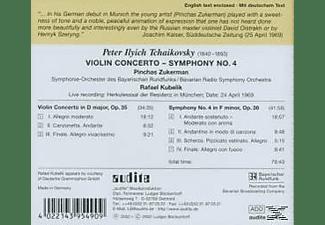 Zukerman, Kubelik, Brfso, R./SOBR Kubelik - Violinkonzert D-Dur/Sinf.Nr.  - (CD)