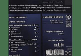 Sergej Koudriakov, Koudriakov Sergey - Klaviersonate D 850/3 & Drei Klavierstücke D 946  - (SACD Hybrid)