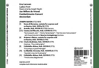 Combattimento Consort Amsterdam, Lisa Larsson - Ladies First! Opera Arias By Joseph Haydn  - (CD)