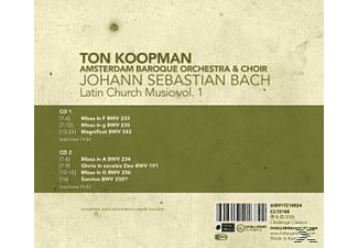 VARIOUS, Ton & The Amsterdam Baroque Orchestra & C Koopman - Latin Church Music  - (CD)
