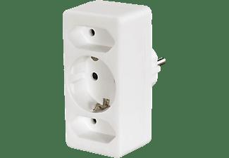HAMA Multistecker, 3-fach, 2 Euro/1 Schutzkontakt-Kupplung, weiß