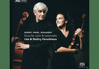 Liza & Dmitry Ferschtman - Duos For Violin & Violoncello  - (CD)