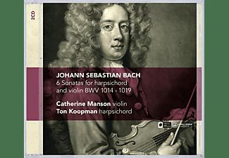 Catherine Manson, Ton Koopman - 6 Sonatas For Harpsichord And Violin Bwv 1014 - 1019  - (CD)