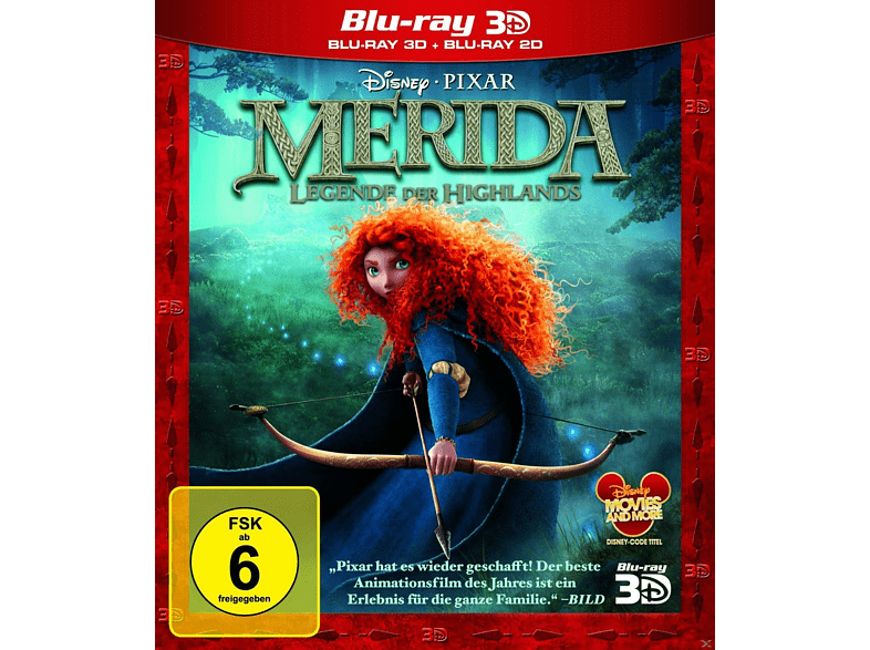 Merida - Legende der Highlands 3D [3D Blu-ray]