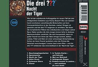 Die drei ??? 159: Nacht der Tiger  - (CD)