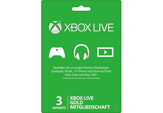 3 Monate Xbox Live Gold-Mitgliedschaft