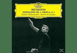 "Herbert von Karajan, Herbert Von Bp/karajan - Sinfonie 3 ""eroica"" & 4  - (CD)"