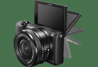 SONY Alpha 5100 mit Objektiv AF E 16-50mm 3.5-5.6 OSS PZ (ILCE-5100LB), schwarz