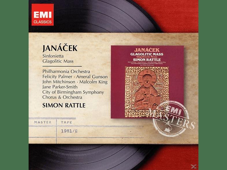 Sir Simon Rattle, The Philharmonia Orchestra - Sinfonietta - Glagolitic Mass [CD]