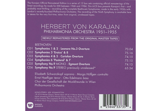 Herbert von Karajan, VARIOUS, The Philharmonia Orchestra - Beethoven Symphonies 1-9 & Overtures 1951-1955  - (CD)