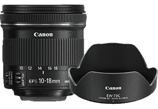 CANON Value Up Kit 10 mm - 18 mm f/4.5-5.6 IS, STM (Objektiv für Canon EF-S-Mount, Schwarz)