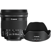 CANON Value Up Kit 10 mm-18 mm f/4.5-5.6 IS, STM (Objektiv für Canon EF-S-Mount, Schwarz)