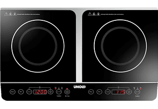 UNOLD 58175 Doppel Elegance Kochplatte (Kochfelder: 2)