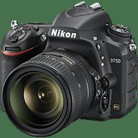 NIKON D750 Kit Spiegelreflexkamera, 24.3 Megapixel, 24-85 mm Objektiv (AF-S, VR), WLAN, Schwarz