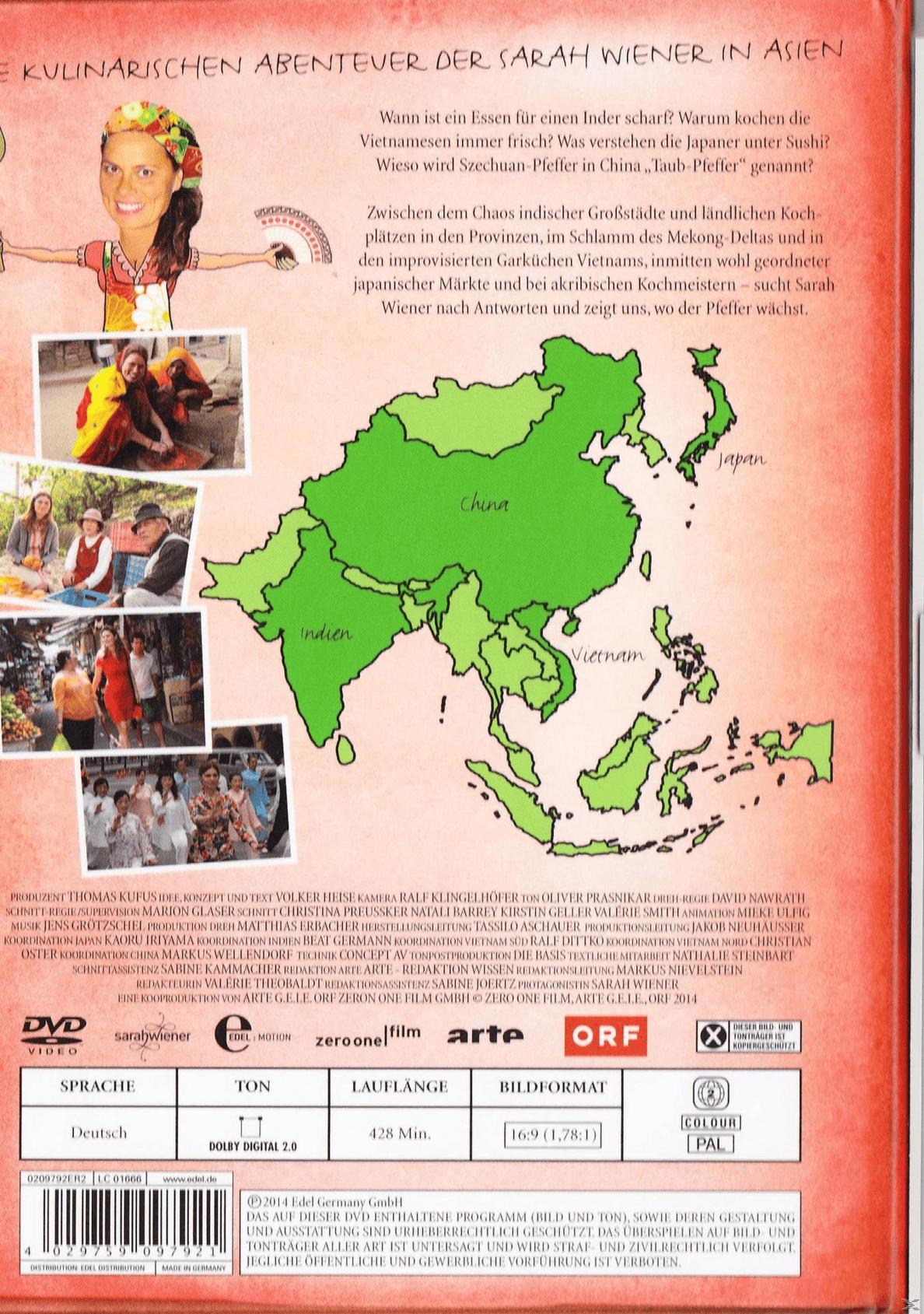 Die kulinarischen Abenteuer der Sarah Wiener in Asien auf DVD