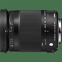 SIGMA 18-300 mm F3.5-6.3 DC Makro OS HSM Contemporary 18 mm-300 mm f/3.5-6.3 DC, HSM, OS (Objektiv für Canon EF-S-Mount, Schwarz)