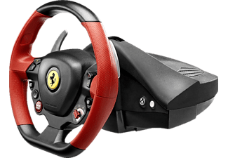 THRUSTMASTER Ferrari 458 Spider (inkl. 2-Pedalset, Xbox One / Xbox Series X|S), Lenkrad, Schwarz, Rot