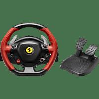 THRUSTMASTER Ferrari 458 Spider (inkl. 2-Pedalset, Xbox One) , Lenkrad, Schwarz, Rot