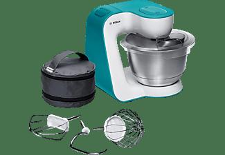 BOSCH MUM54D00 Küchenmaschine Weiß/Dynamicblau (Rührschüsselkapazität: 3,9 Liter, 900 Watt)