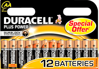 DURACELL Plus Power AA 12-pack - Batterier