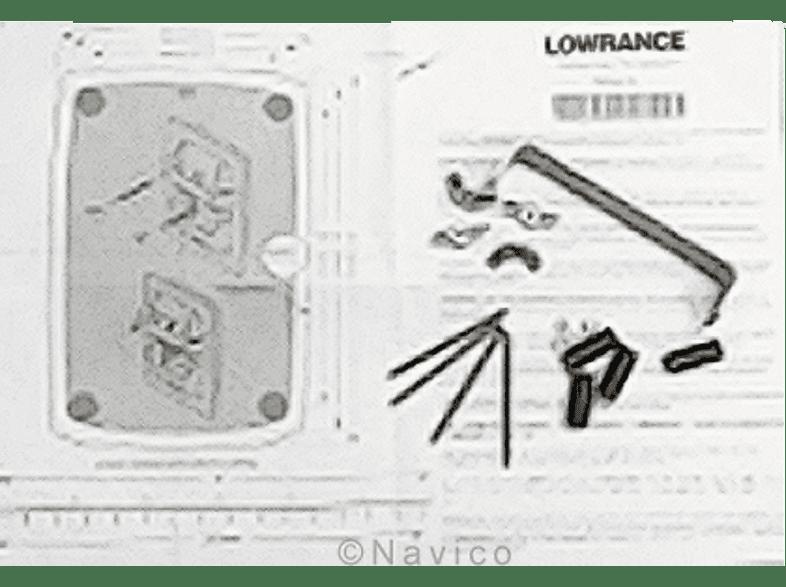 LOWRANCE Flacheinbau-Kit, Navihalterung, passend für Navigationssystem