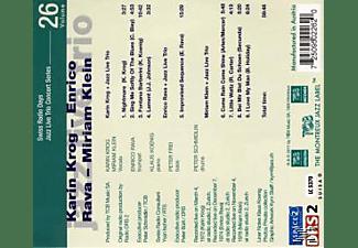 KARIN KROG, ENRICO RAVA, MIRJAM KLEIN - Jazz Live Trio Concert Series Volum  - (CD)