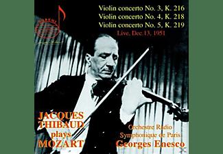 Orchestre Radio Symphonique De Paris, Jacques Thibaud - Thibaud Plays Mozart  - (CD)