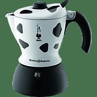 BIALETTI Mukka Express 2-tlg. Espressokocher Weiß/Schwarz