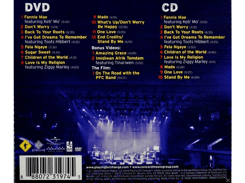 Playing For Change - Playing For Change Live [CD + DVD Video]