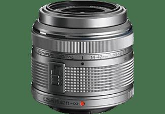OLYMPUS M.ZUIKO DIGITAL 14 mm - 42 mm f/3.5 (Weitwinkel), f/5.6 (Tele) (Objektiv für Micro-Four-Thirds, Silber)