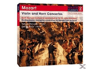 Wolfgang Amadeus Mozart, BFO,PO/Karajan,Pritchard - Violin & Horn Concertos  - (CD)