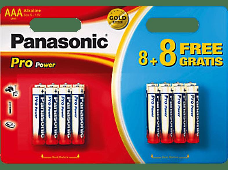 PANASONIC BATTERY Piles AAA 8+8 (LR03PPG)