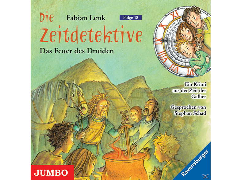 Die Zeitdetektive 18: Das Feuer des Druiden - (CD)