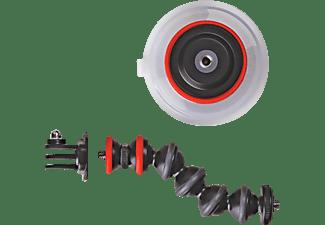 JOBY JB01329 S.Cup & GorillaPod.ARM Einbein Halterung, Schwarz/Rot, Höhe offen bis 57 mm